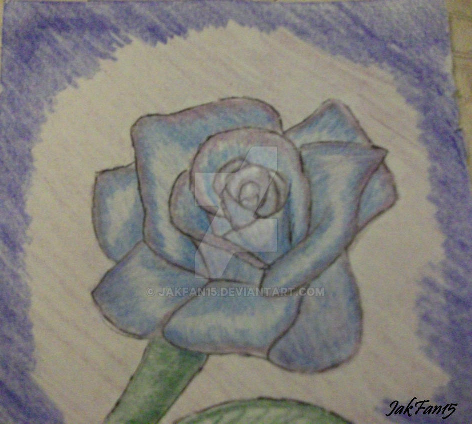 Blue Rose..in pencil by Jakfan15