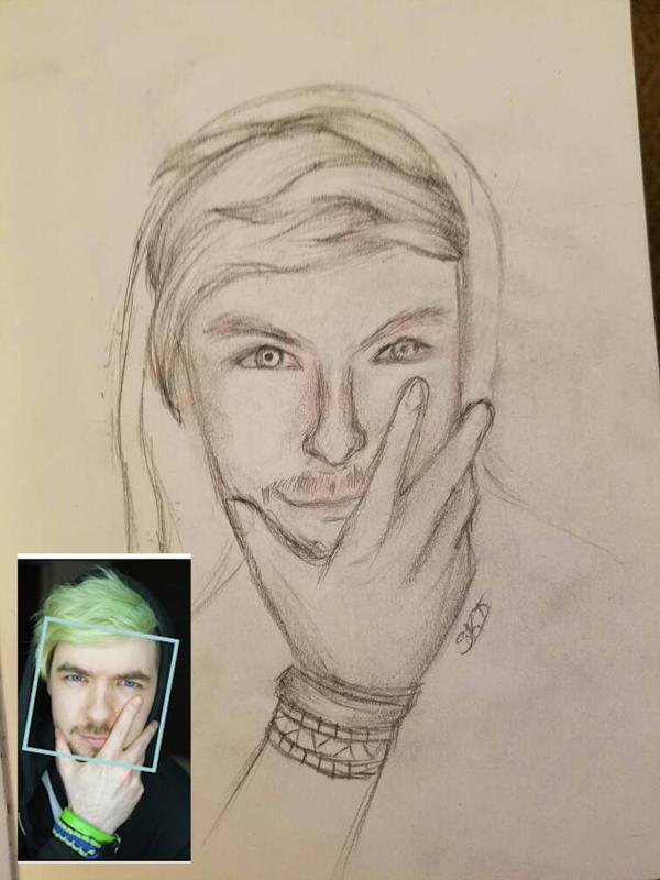 Jacksepticeye  (Quick Sketch) by SamanBrosefineIzzle