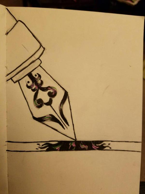 Inktober #2 - Pen on Paper by SamanBrosefineIzzle