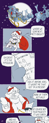 Dads of Dreamland on a Christmas mission ~ comic by jelloire