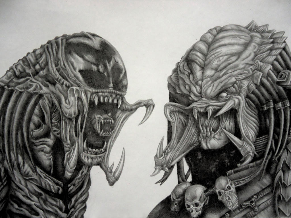 aliens vs predator drawings - photo #39