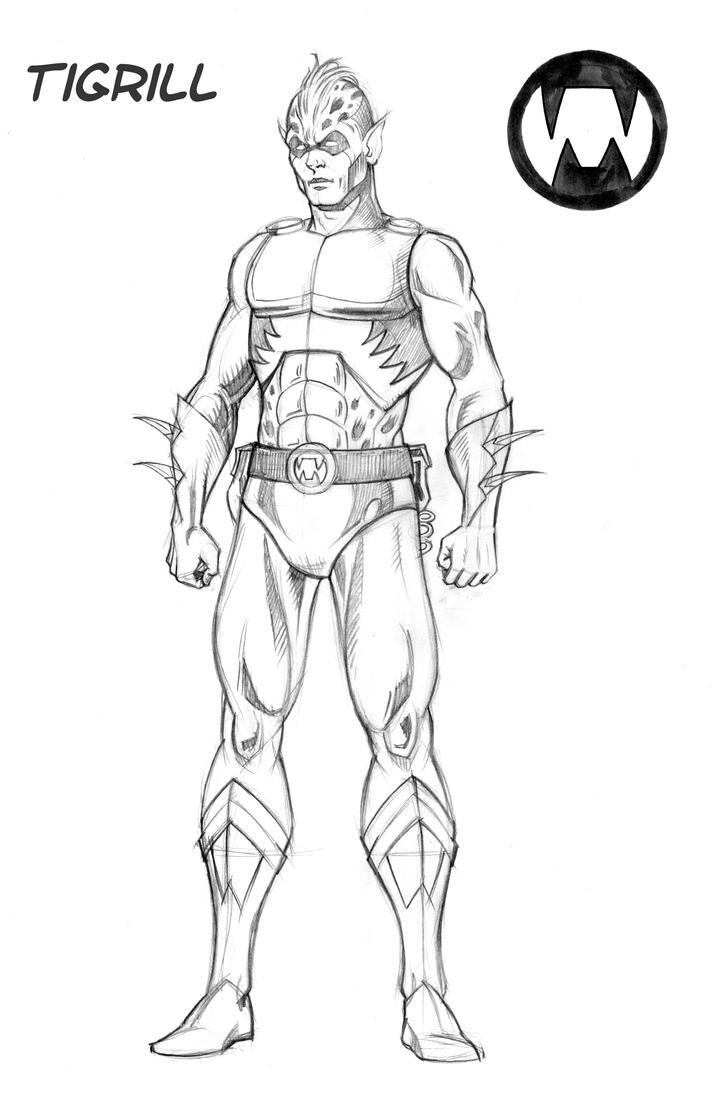 Character Design Sketchbook : Tigrill character design sketch by fnkny on deviantart