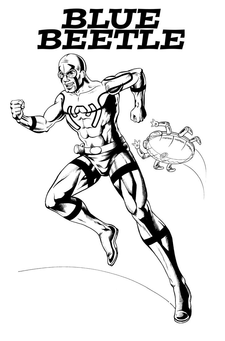 Blue beetle coloring coloring pages for Blue beetle coloring pages