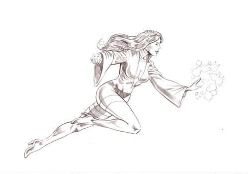Zatanna (DC Comics) - Pencil pin up