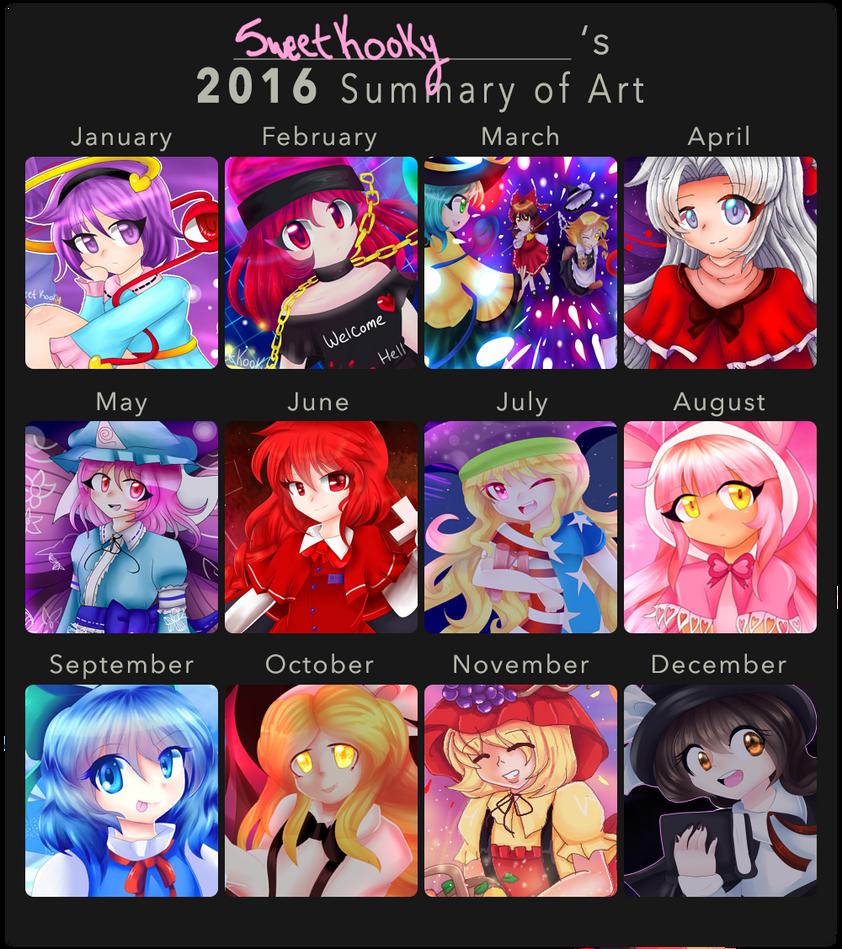 2016 Summary of Art by SweetKooky