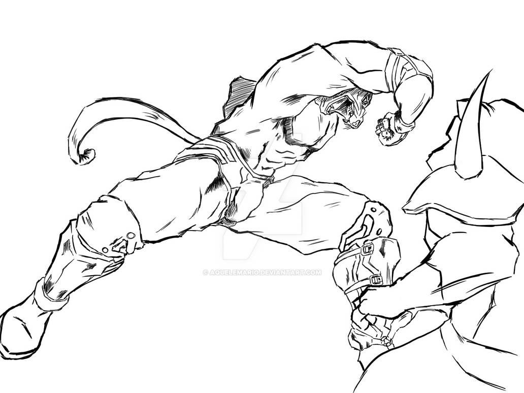 Tekken King Lineart By Aquelemario On Deviantart
