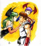 Morigan Lilith Teasing Ryu