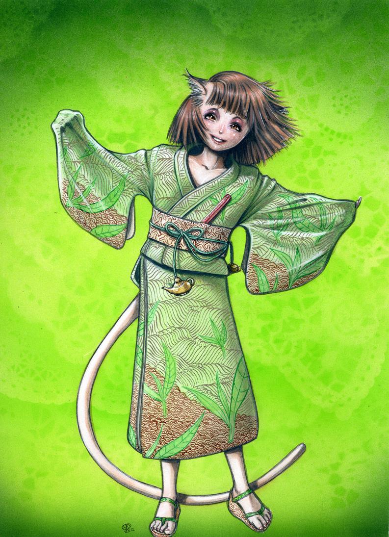 Tea Kimono by Snigom