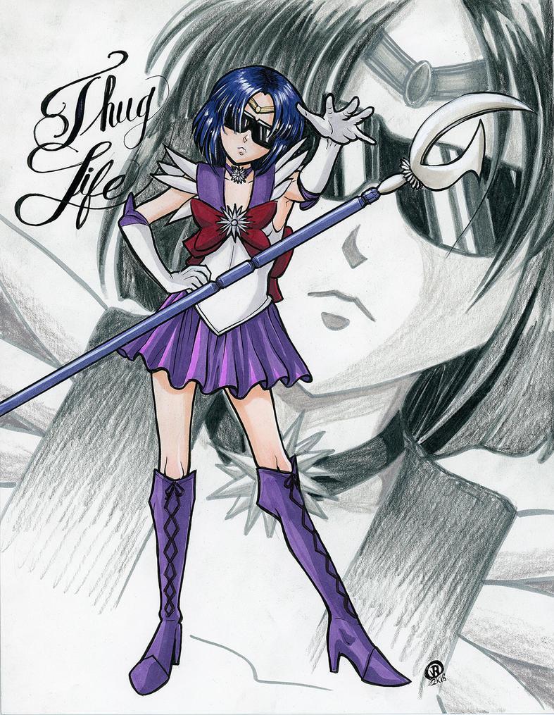 Sailor Saturn's Thug Life by Snigom