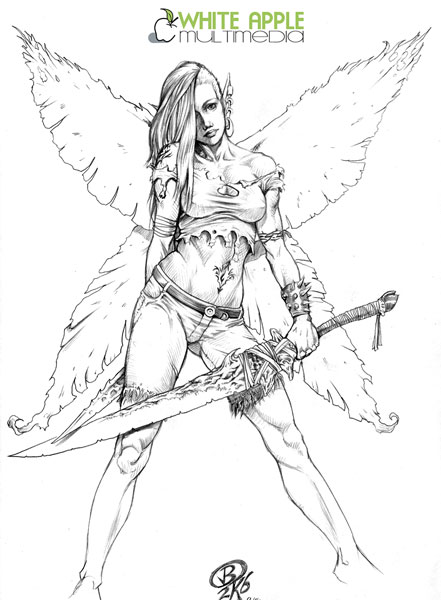 fly angel coloring pages - photo#41