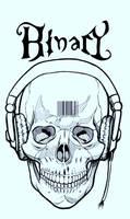 Skull N Headphones Inked