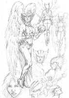 Hawkgirl Character Study by comiconart