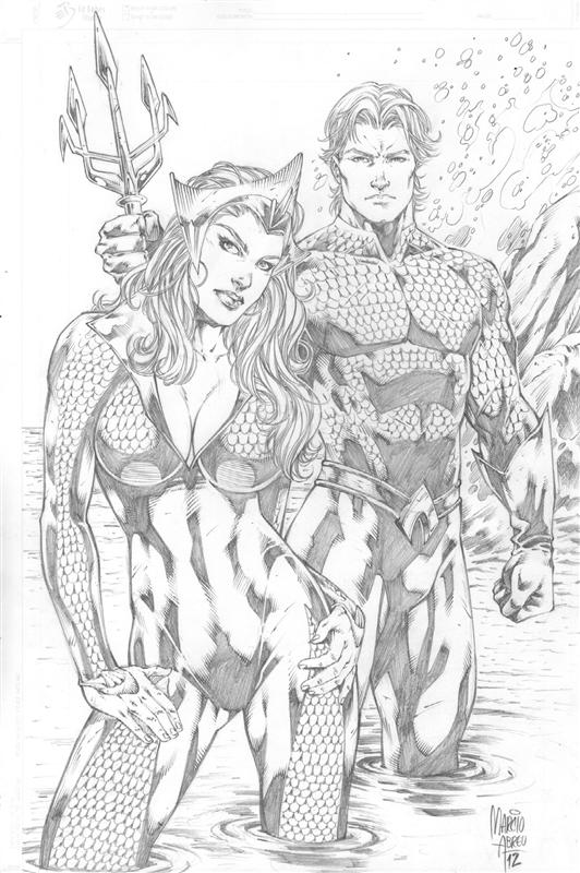 Marcio Abreu Aquaman And Mera By Comiconart On DeviantArt