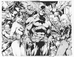 Alisson Rodrigues: Justice League of America(Inks) by comiconart