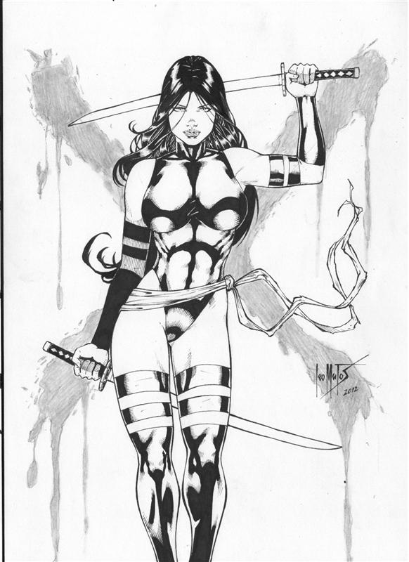 Leo Matos: Psylocke by comiconart