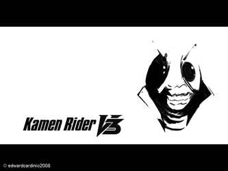 kamen rider v3 by zer0system