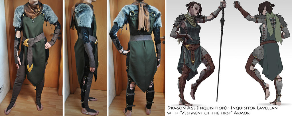 Lavellan Armor (Making-Off) by PinCushionQueenX