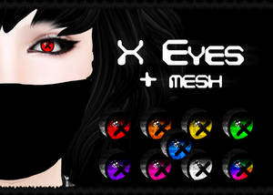 X Eyes Fatpack + MESH (Second Life)
