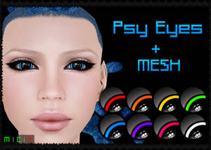Psy Eyes + Mesh (Second Life)