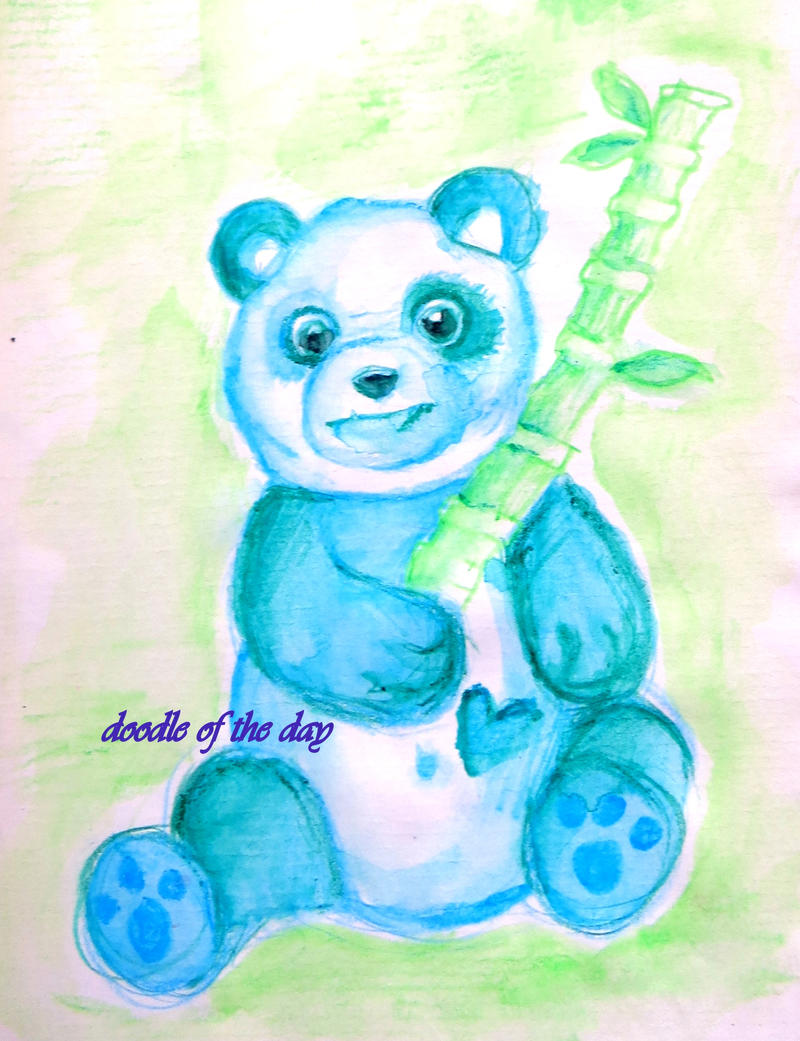 #199 A girl's panda by Doodle-of-the-day