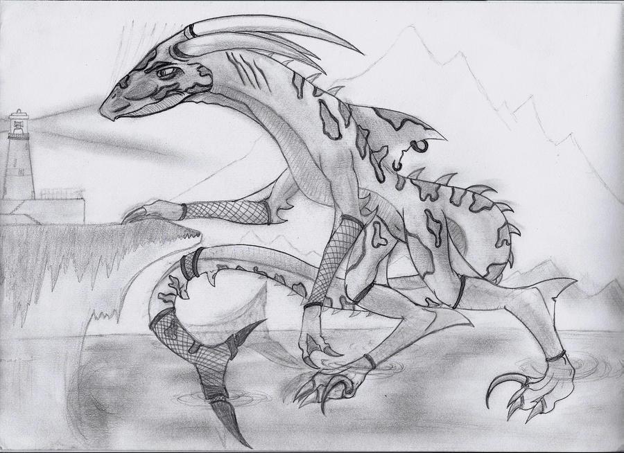 Shark hybrid drawing - photo#12