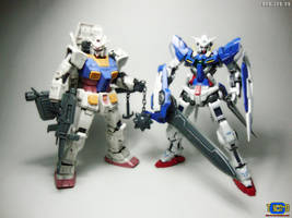 MG RX-78-2 OYW and Exia by mikecka