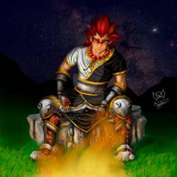 Post-apocalyptic Monk warrior