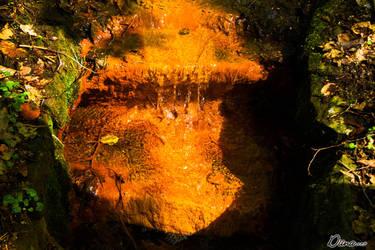 Orange waterfall by Diinax3