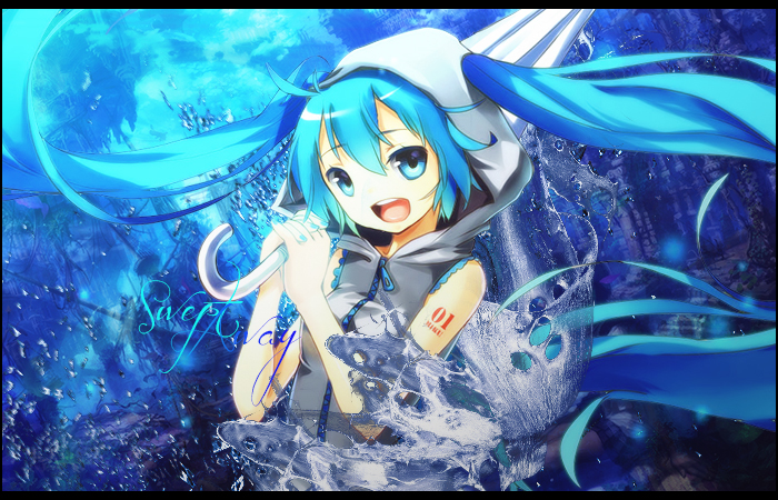 Hatsune Miku Water Tag by SheikSpear