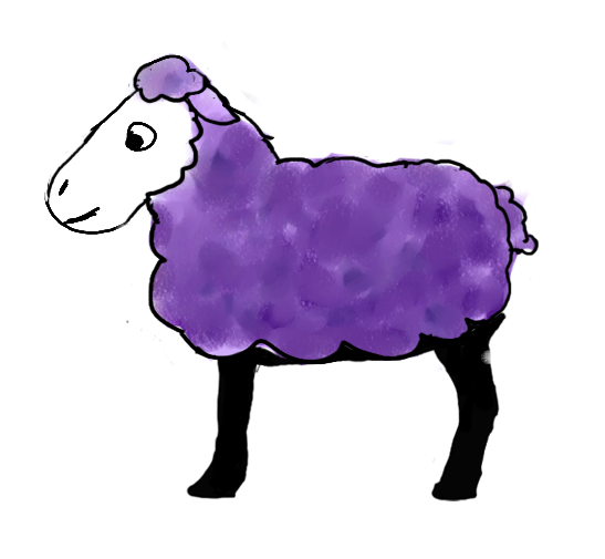 Purple Sheep by jennego