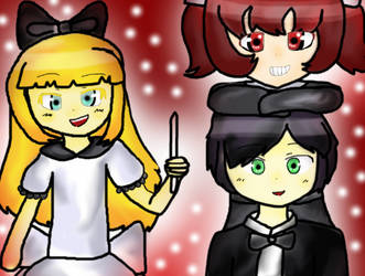 [Art Request] Emily, Mary and Simon (For jadelh) by SnowyFuyuko-Chan