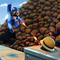 Mega Man VS Metall (Gutsman Stage)