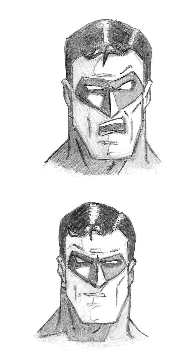 hal green lantern head sketches by tonyzeller 614