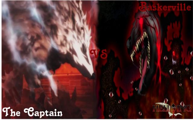 Baskerville hound hellsing vs baskerville hellsing 4