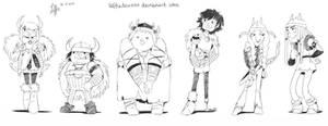 The Gang by LeffiesArt