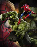 Spiderman x Hulk