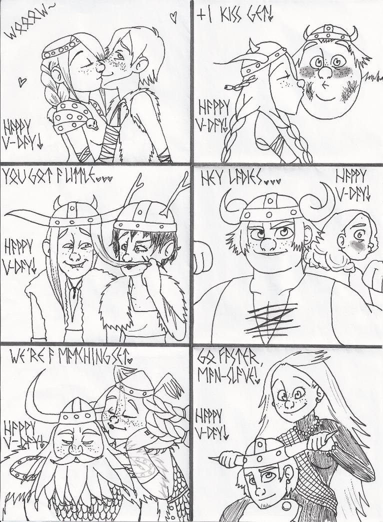 HTTYD V-Day Art Jam by Simtiff