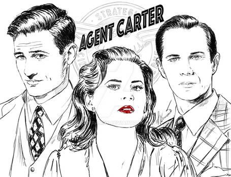 Agent Carter sketch by Francesca Benevento