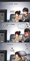Watching romance movie...