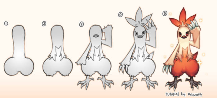 How to draw a Combusken