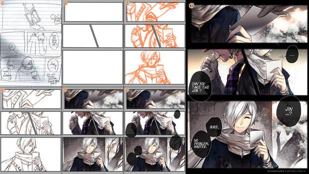 Drawing manga page step by step