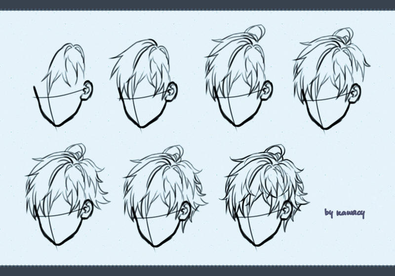 Drawing male hair