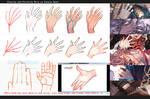 Drawing hands: male vs female
