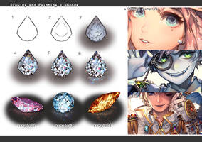 Drawing jewelry: diamonds