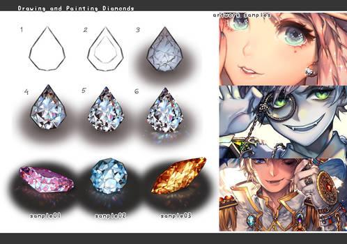 Drawing jewelry: diamonds