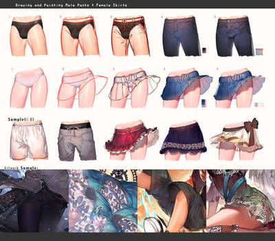 Drawing pants vs skirts