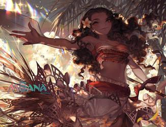 Aloha to Moana by kawacy