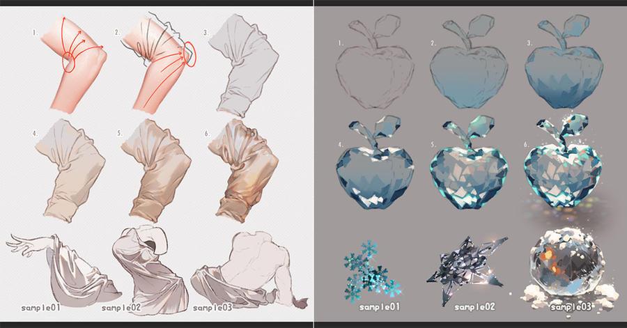 Drawing Fabrics and Ice by kawacy