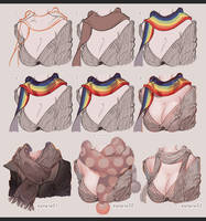 How to Paint Scarf by kawacy