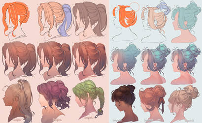 Drawing Hair (2019 ver.) by kawacy